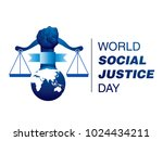 world social justice day logo | Shutterstock .eps vector #1024434211