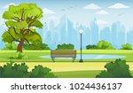 summer city park panorama... | Shutterstock .eps vector #1024436137