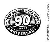 90 years anniversary....   Shutterstock .eps vector #1024436407