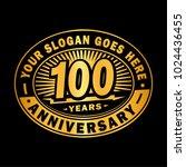 100 years anniversary.... | Shutterstock .eps vector #1024436455