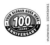 100 years anniversary.... | Shutterstock .eps vector #1024436461