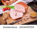 meat and sausages set of fresh... | Shutterstock . vector #1024439554