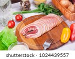 meat and sausages set of fresh... | Shutterstock . vector #1024439557