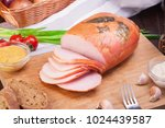 meat and sausages set of fresh... | Shutterstock . vector #1024439587
