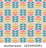 seamless retro pattern with... | Shutterstock .eps vector #1024443391