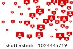 follow icon. notifications with ... | Shutterstock .eps vector #1024445719