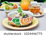 thai food chicken soup with... | Shutterstock . vector #1024446775