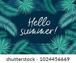 hello summer. background with... | Shutterstock .eps vector #1024456669