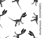 seamless pattern of hand drawn... | Shutterstock .eps vector #1024456831