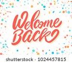welcome back banner.  | Shutterstock .eps vector #1024457815