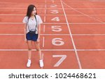 fashion portrait of hipster...   Shutterstock . vector #1024468621