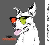 portrait of the bulldog in the... | Shutterstock .eps vector #1024468627