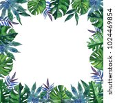 hand drawn tropical watercolor...   Shutterstock . vector #1024469854