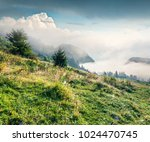 bright summer scene of triglav... | Shutterstock . vector #1024470745