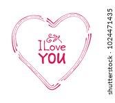 hand drawn valentines heart...   Shutterstock .eps vector #1024471435