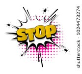 stop  no  sign hand drawn... | Shutterstock .eps vector #1024473274