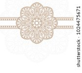 invitation card with mandala. | Shutterstock .eps vector #1024475671
