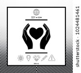 hands holding heart symbol   Shutterstock .eps vector #1024481461