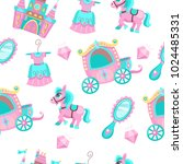 seamless pattern on a white... | Shutterstock .eps vector #1024485331
