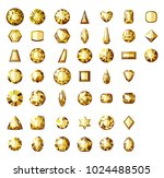set of different types of cuts... | Shutterstock .eps vector #1024488505