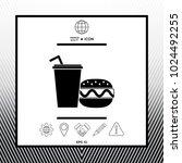 hamburger or cheeseburger ... | Shutterstock .eps vector #1024492255