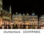 Small photo of BRUSSELS, BELGIUM – FEBRUARY 6, 2017: A view of the Grand Place at night, the central square of Brussels capital city, surrounded by opulent guildhalls.