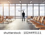 back view of young businessman... | Shutterstock . vector #1024495111