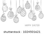 happy easter vector background... | Shutterstock .eps vector #1024501621