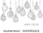happy easter vector background... | Shutterstock .eps vector #1024501621