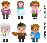 professional occupation icons... | Shutterstock .eps vector #102450194