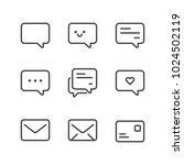 communication icon set isolated ... | Shutterstock .eps vector #1024502119