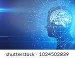 man profile silhouette with...   Shutterstock . vector #1024502839