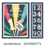 birthday party invitation card  ... | Shutterstock .eps vector #1024504771