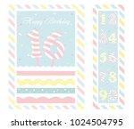 birthday party invitation card  ... | Shutterstock .eps vector #1024504795