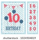 birthday party invitation card  ... | Shutterstock .eps vector #1024504819
