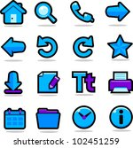 internet browsing icons set | Shutterstock .eps vector #102451259
