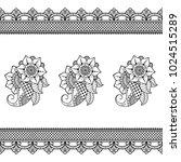 henna tattoo flower template... | Shutterstock .eps vector #1024515289