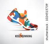 sneaker stylized vector symbol  ... | Shutterstock .eps vector #1024515739