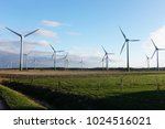 windmills power plant in rural... | Shutterstock . vector #1024516021