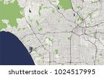 vector map of the city of los... | Shutterstock .eps vector #1024517995
