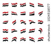 iraqi flag  vector illustration ... | Shutterstock .eps vector #1024518577