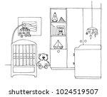 sketch room for the newborn....   Shutterstock .eps vector #1024519507