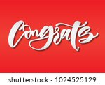 hand sketched congrats... | Shutterstock .eps vector #1024525129