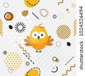 trendy seamless  memphis style... | Shutterstock .eps vector #1024526494