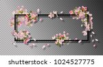 abstract frame with spring... | Shutterstock .eps vector #1024527775