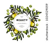 cosmetic packaging template.... | Shutterstock .eps vector #1024529059
