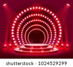 stage podium with lighting ... | Shutterstock .eps vector #1024529299