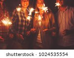 young happpy people with...   Shutterstock . vector #1024535554
