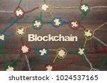 blockchain technology concept... | Shutterstock . vector #1024537165