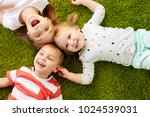 childhood  leisure and family... | Shutterstock . vector #1024539031